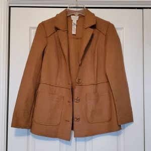 Chico's size 0 camel colored sweater jacket EUC